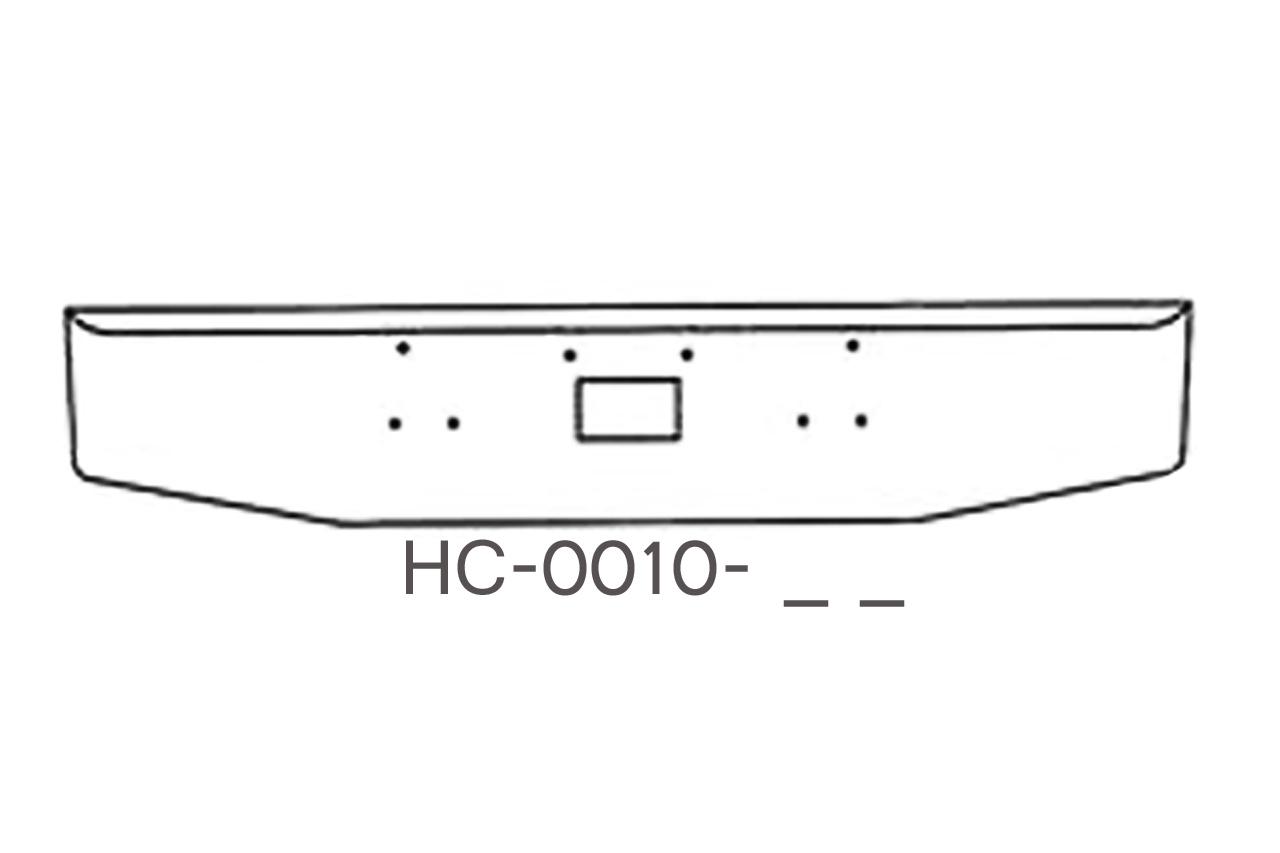 V-HC-0010-51 - 1987 to 2006 Peterbilt 378 / 379 20in bumper