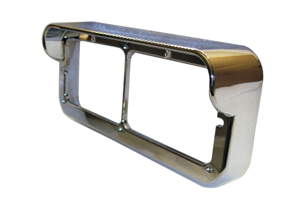 Universal Headlight CHROME BEZEL EYEBROW