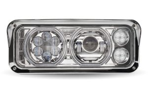 Universal LED Projector Headlight Assembly with lights off