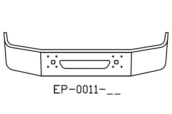 International 9100, 9200, 9400 18in chrome bumper EP-0011-17