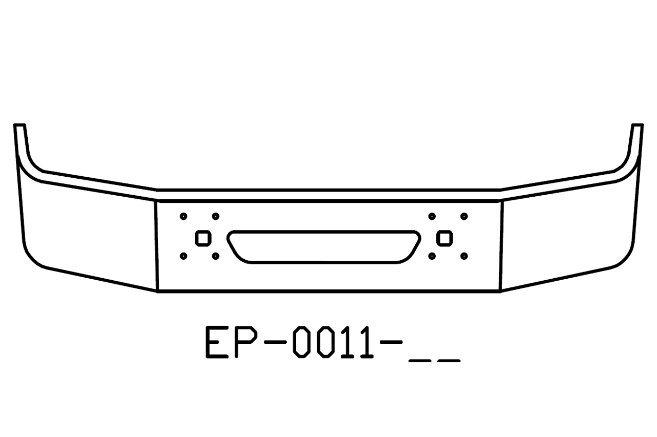 EP-0011-17 - International 9100, 9200, 9400 18in chrome bumper