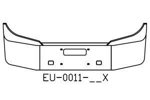 EU-0011-16X - International Conventional 16in chrome bumper