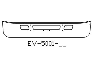EV-5001-38 - 2006 and newer International 7400 14in chrome bumper