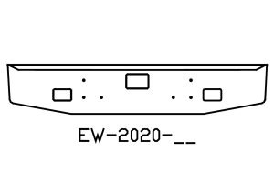 EW-2020-06 - 2001 to 2011 International 5900I 18in Bumper