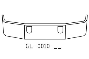V-GL-0010-17 - 1994 to 2004 Mack CH613 18in chrome bumper