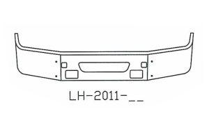 2004 to 2015 Volvo VNL64T, 630, 670, 780 Bumper