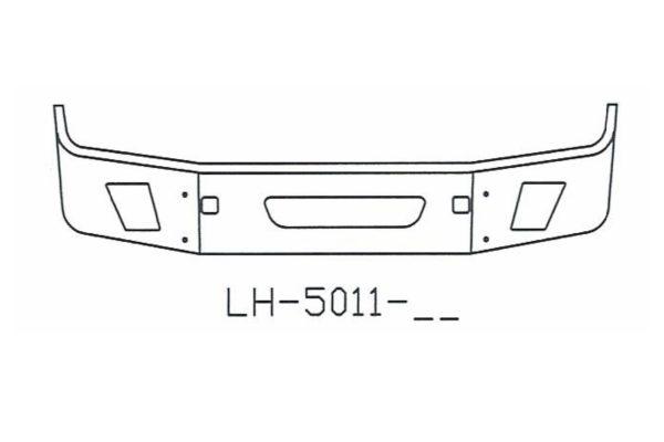 2004 to 2015 Volvo VNL64T, VNL 630, VNL 670, VNL 780 Bumper