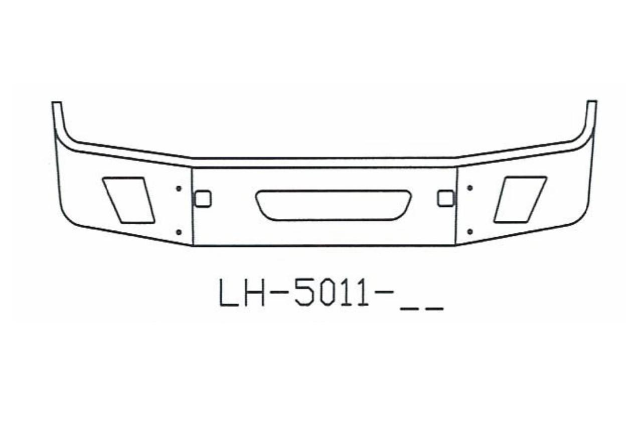 2004 to 2015 olvo VNL64T, VNL 630, VNL 670, VNL 780 Bumper