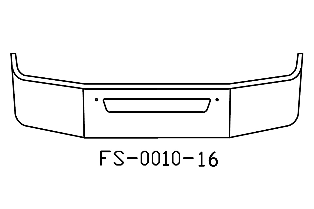 V-FS-0010-16 - Kenworth T270 T370 16in Bumper