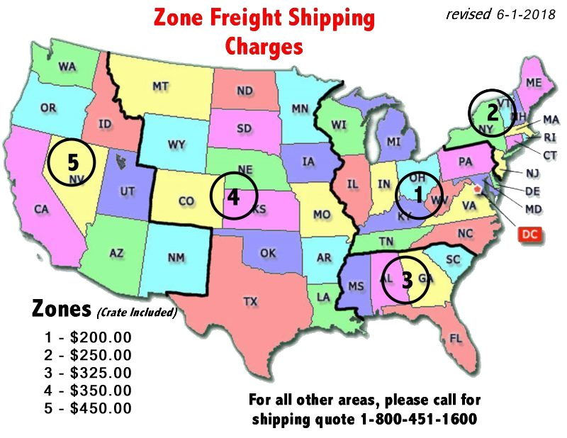 zone shipping map