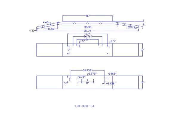 v cm 0011 04 aftermarket, fits freightliner fld120 fld112 bumper, 12  freightliner fld120 & fld112 chrome bumper next